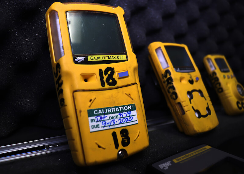 Photo of a meter tester for industrial hygiene services