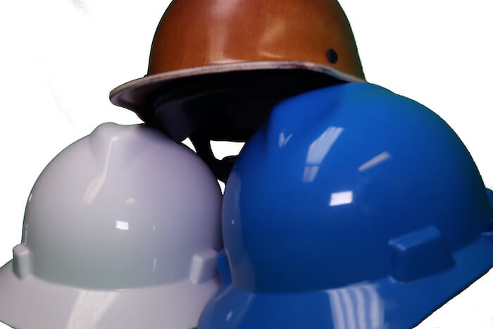Hard Hat example for Equipment service page